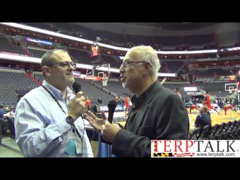 Maryland Basketball Hoyas pregame Don Markus and Wayne Viener