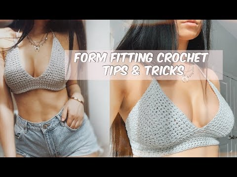 FORM FITTING CROCHET TOPS FOR EVERY SIZE// TIPS + TRICKS