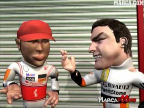 Alonso Vs Hamilton: Mi Nuevo Coche - MarcaToons