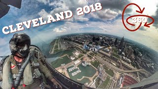 360 VR | Viper Demo & USAF Heritage Flight with P-51| Cleveland National Airshow