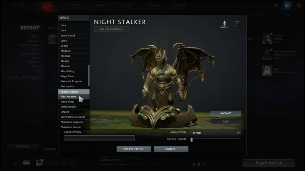 how to get effigy dota 2