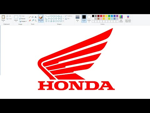 HONDA Logo Drawing Easily On Computer Using Ms Paint | How To Draw Honda Logo | Logo Making Easily.