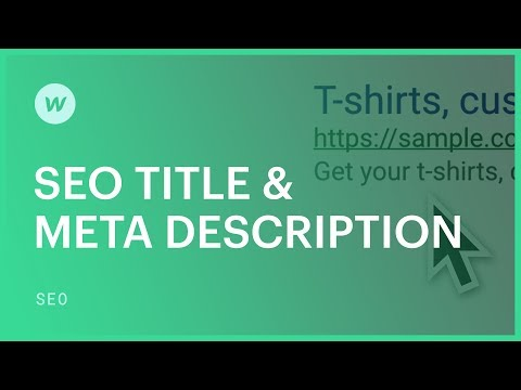 SEO Title & Meta Description — SEO tutorial