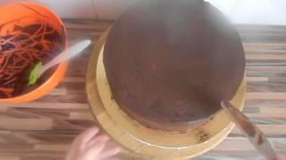 Как выровнять торт под мастику/ Чем выровнять торт/ Шоколадный ганаш