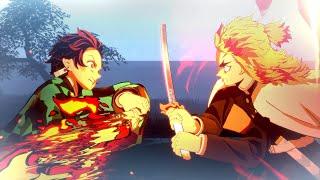 Demon Slayer - Rengoku vs Tanjiro Secret Boss Fight - Kimetsu no Yaiba Hinokami Chronicles