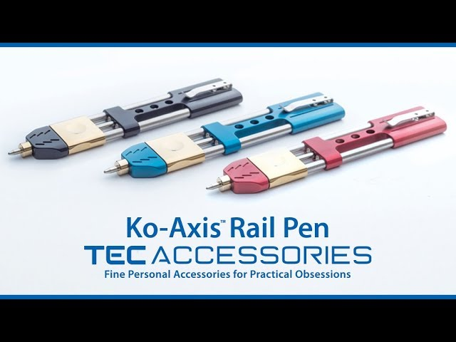 Ko-Axis Rail Pen // Silver (Black Velvet) video thumbnail