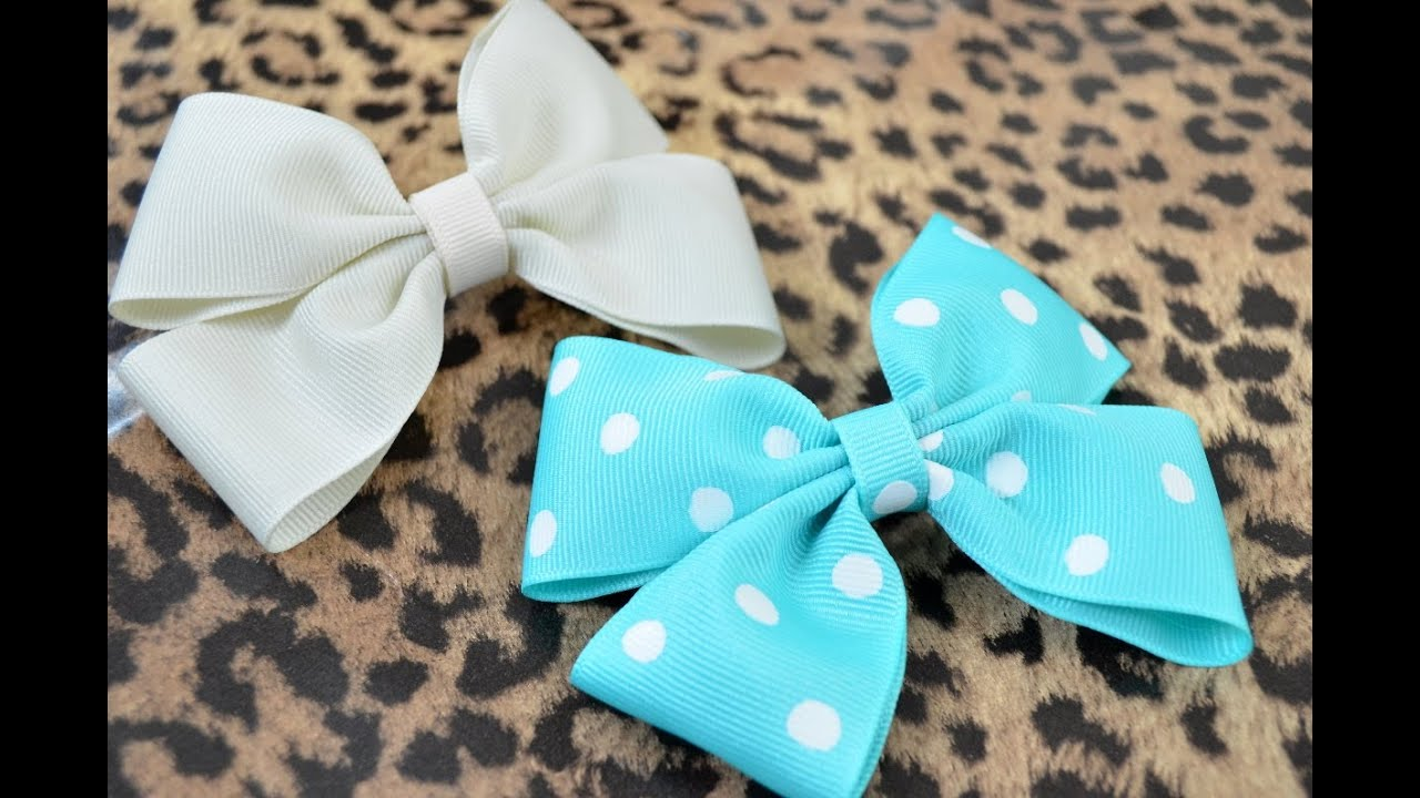 How To Make A Hair Bow - YouTube
