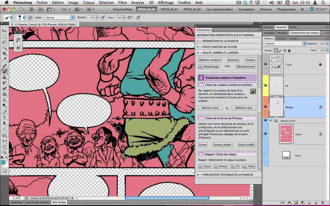 """Panneau """"Colorisation"""" pour shop CS5 Tour d horizon de la version 1"""