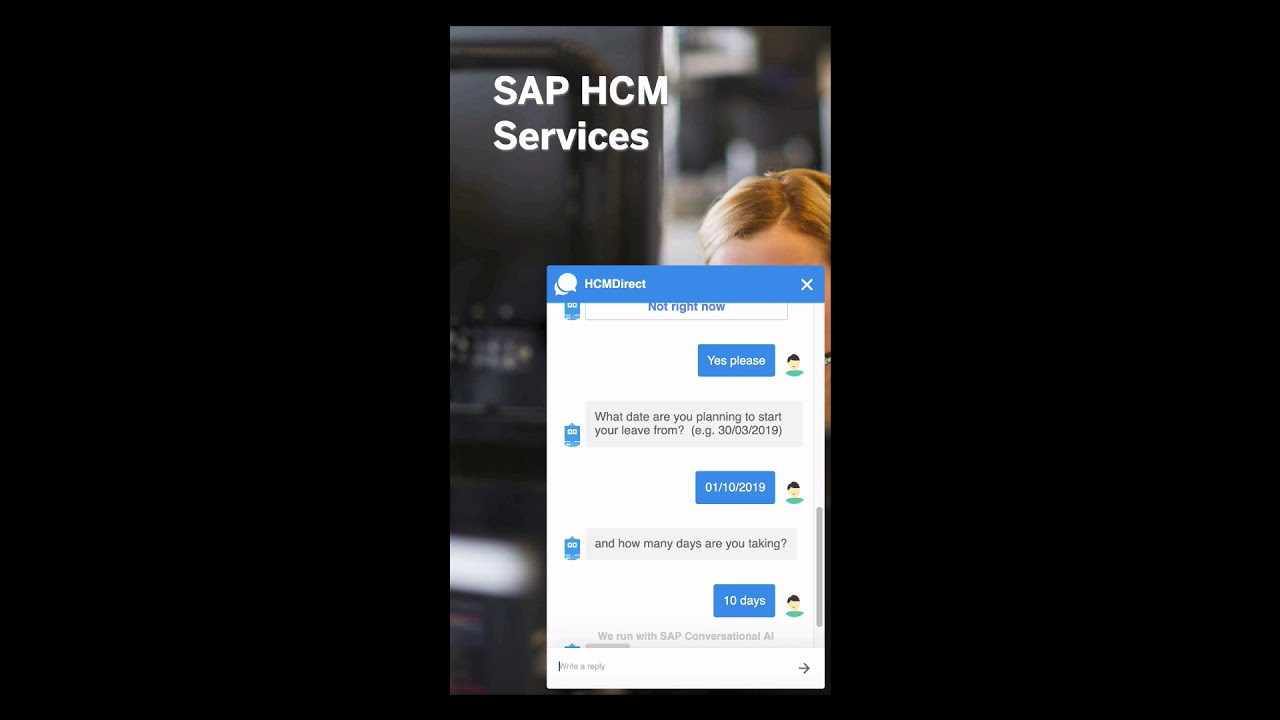 HR Chat Bot with SAP Conversational AI - YouTube