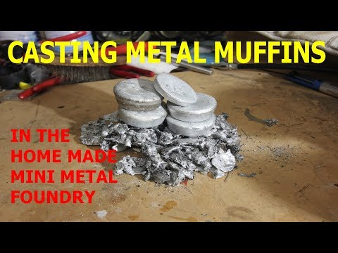 Casting Aluminium Ingots From Scrap With The Homemade Metal Foundry