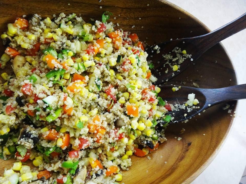 Ensalada De Quinoa Con Aderezo Cítrico
