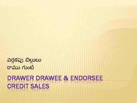 Bills of Exchange  Journal Entries in Telugu and English
