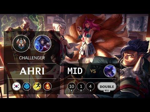 Ahri Mid vs Ryze - KR Challenger Patch 9.10