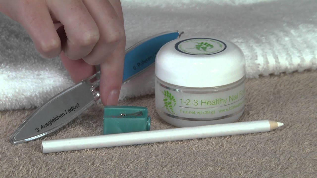 The Best Natural Nail Strengthener | 1-2-3 Healthy Nails - YouTube