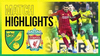 Highlights   Norwich City 0-1 Liverpool