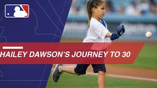 Hailey Dawson throws 1st pitches at every MLB stadium