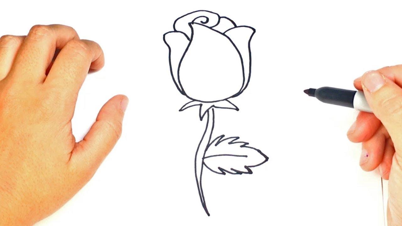 Cómo Dibujar Un Rosa Paso A Paso Dibujo Fácil De Rosa
