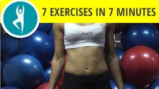 7 exercises in 7 minutes: upper body workout for toned arms and chest