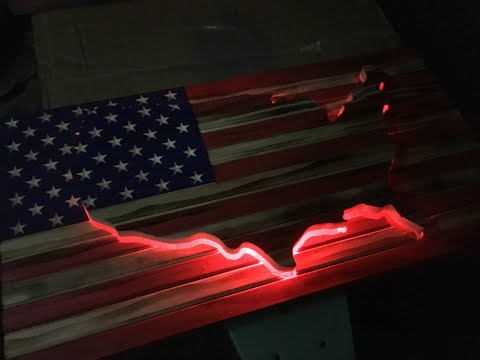 Rustic American flag build time lapse
