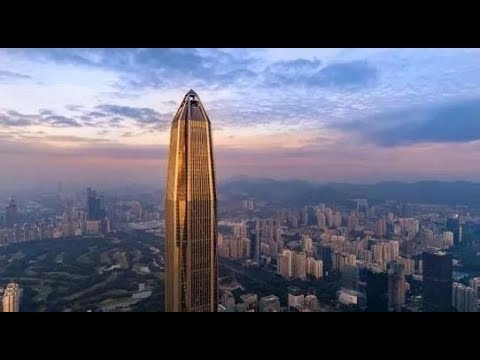 Ultra-Fast KONE Traction Elevator at the Ping An Financial Center, Shenzhen, China (Going Up)