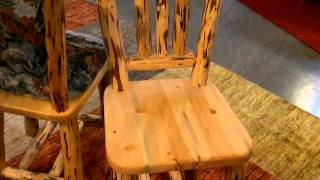 Log Chair For Gathering Or Harvest Height Dining Table