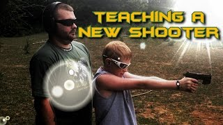 Teaching Someone To Shoot A Pistol