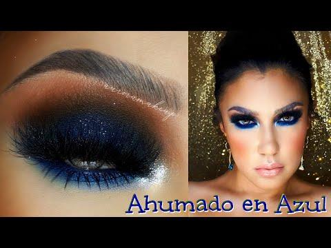 Ahumado en AZULES / BLUE NAVY smokey eye makeup tutorial| auroramakeup