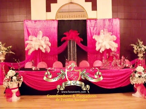 Decoracion melody ballroom youtube - Plumas para decorar ...