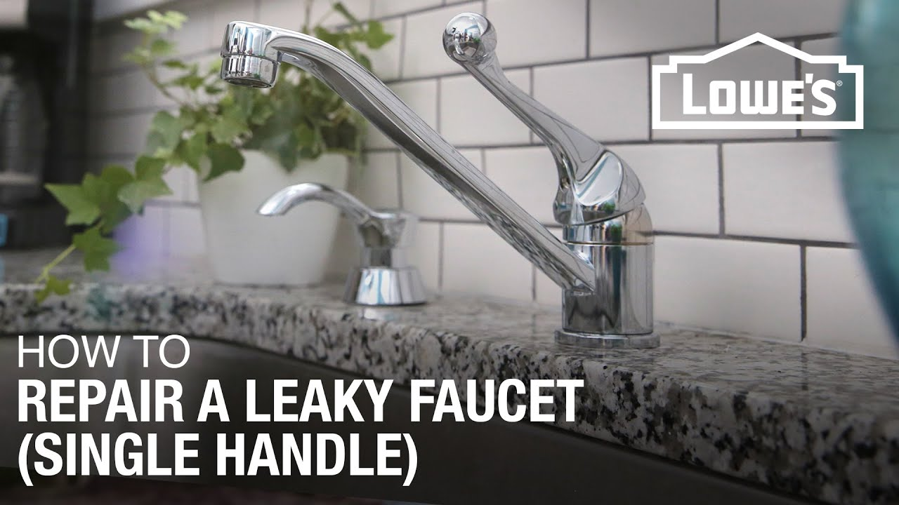 How to Fix A Dripping or Leaky Single Handle Faucet - YouTube