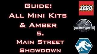 "LEGO: Jurassic World - Guide: All Mini Kits & Amber ""Main Street Showdown"" - Commented"
