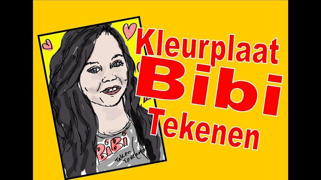 kleurplaat youtuber bibi leren tekenen en gratis
