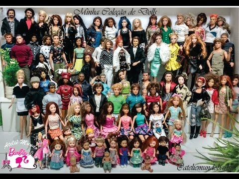 Minha Coleção de Barbies e bonecos Similares