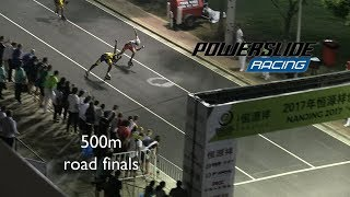 500m road finals at Rollergames Nanjing 2017 - Powerslide Racing Inline skates