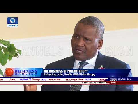 Exclusive Interview With Aliko Dangote Pt 2 | Business Morning |