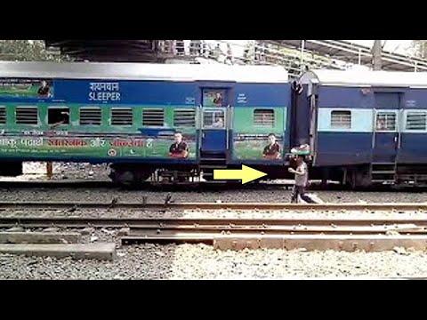 11055 godan express departing from Kalyan Junction Platform - 4.