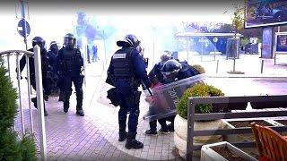 Policia rrah gazetarin ne protest