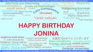 Jonina   Languages Idiomas - Happy Birthday