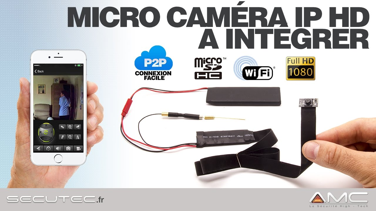 MICRO CAMERA IP FULL HD 1080P WIFI SUR IPHONE A INTEGRER