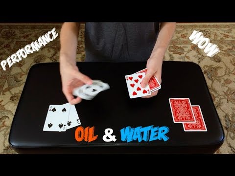 Oil Water Routine Unbelievable Card Trick Performance