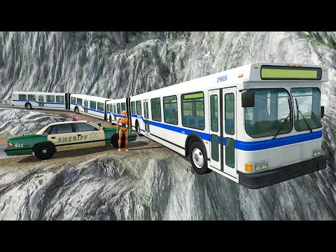 Articulated Bus Crashes #1 - BeamNG DRIVE | SmashChan
