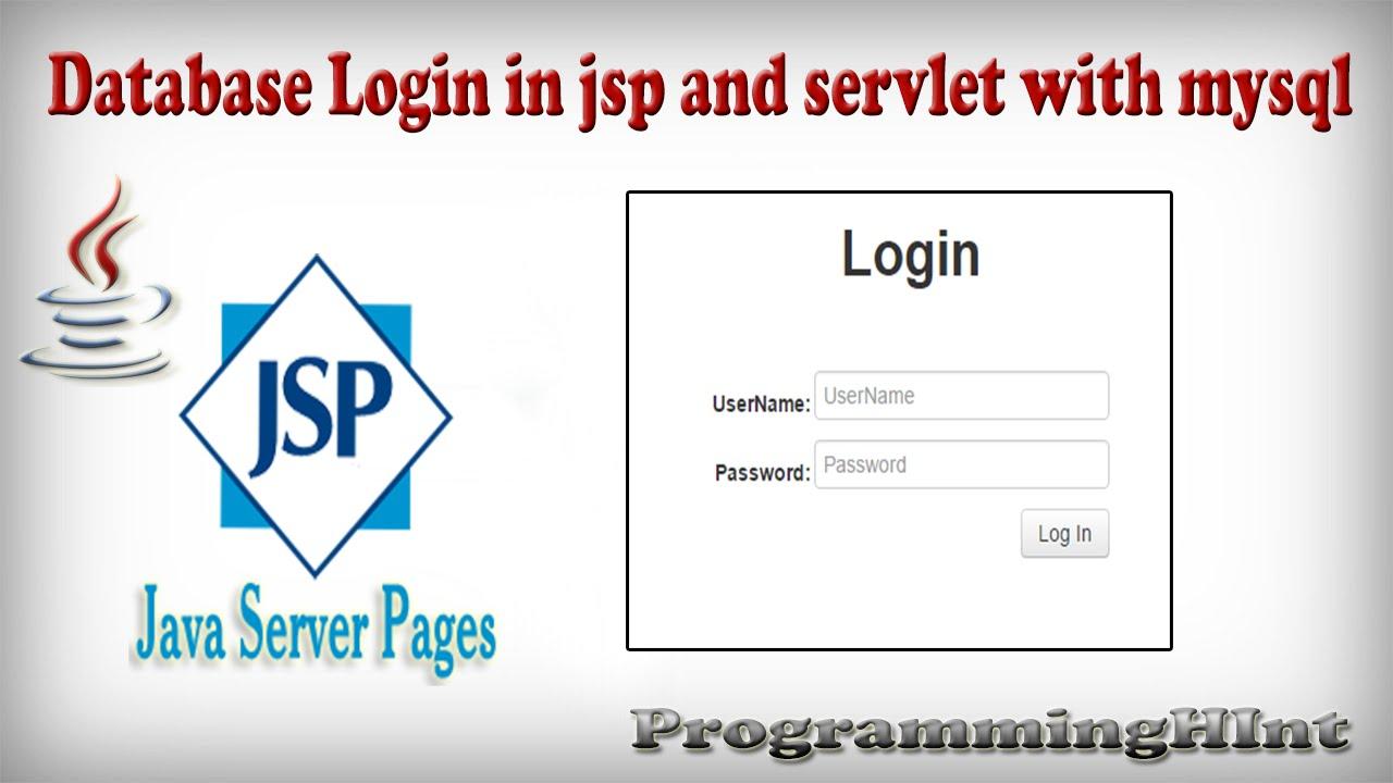 Database Login Form in Jsp and Servlet