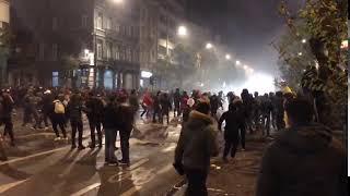 Marocains jouent avec la Police à Bruxelles (Émeutes novembre 2017)
