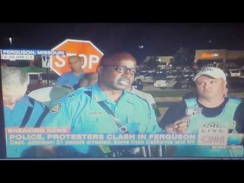 URGENT: POLICE CAPT. RON JOHNSON ADMITS THAT HE ORDERED LOOTING STAND DOWN ON CNN. FERGUSON