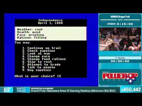 Oregon Trail by Skybilz in 5:22 - Summer Games Done Quick 2015 - Part 95