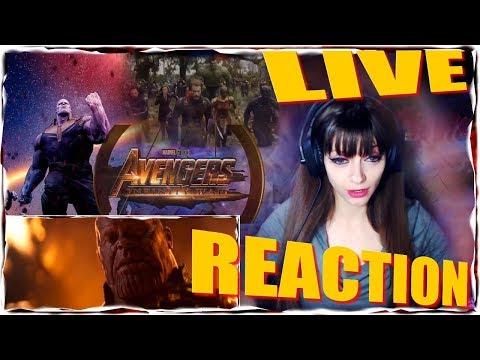 Marvel Studios' Avengers: Infinity War Official Trailer REACTION LIVE!