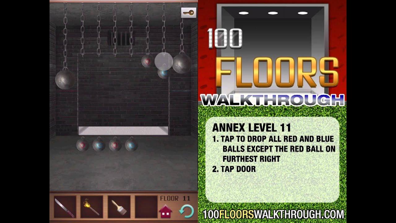 100 Floors Walkthrough Annex Floor 11 Walkthrough 100