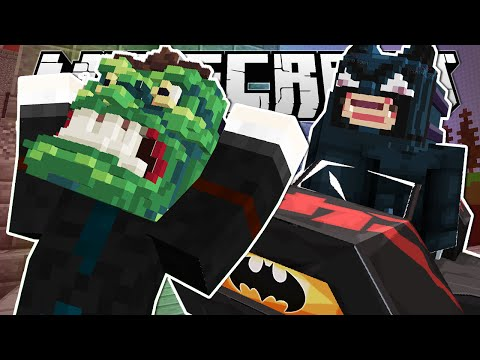Minecraft   HIT BY THE BATMOBILE!!