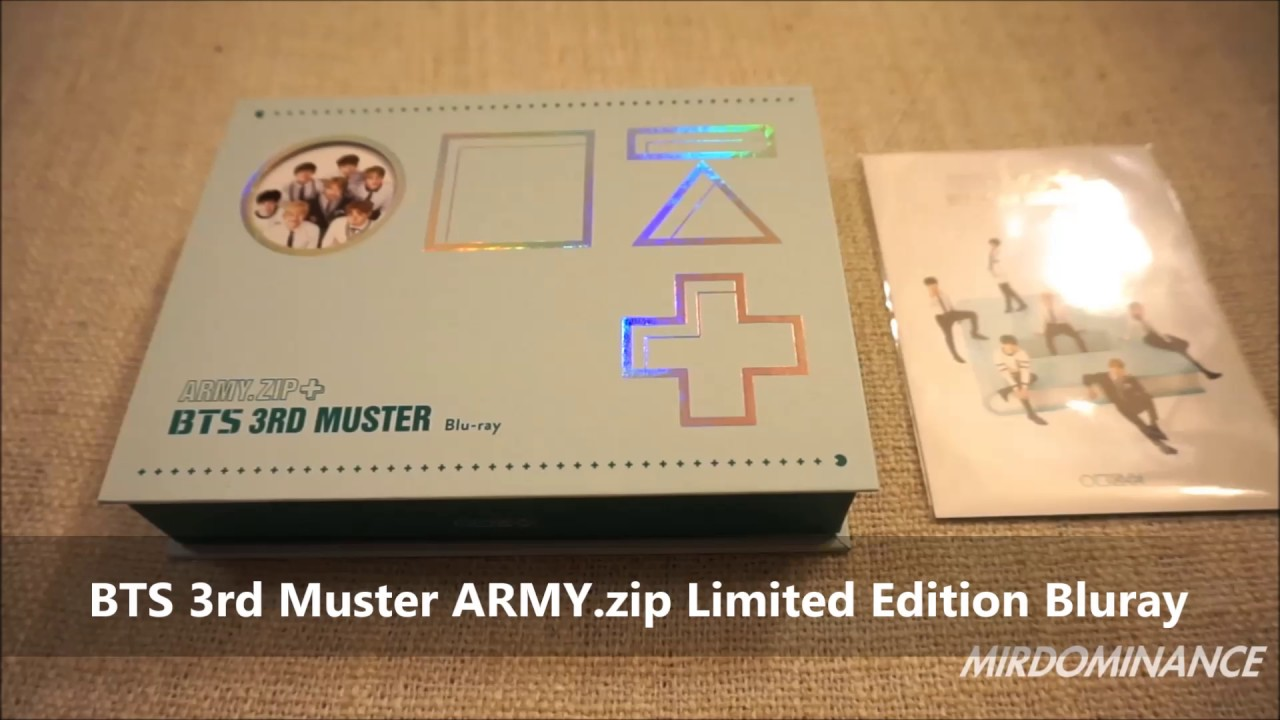 BTS 3rd Muster ARMY zip Limited Edition Blu-ray Unboxing