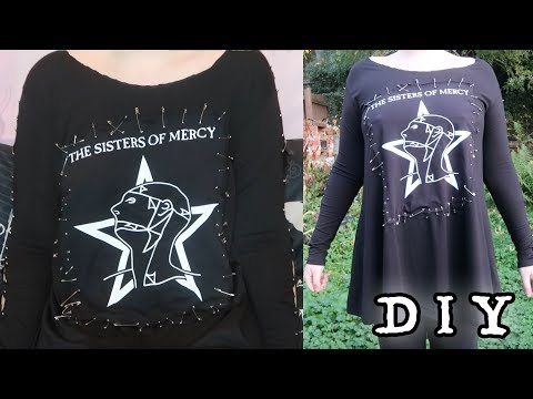 Easy Goth DIY - Band T-shirt Dress | Toxic Tears Mp3