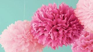 DIY. Делаем бумажный помпон своими руками. Шары из бумаги. Tissue paper pompom(Instagram: @alinasagirova Популярность бумажных помпонов набирает обороты. Они подходят для оформления торжеств и..., 2015-06-10T16:25:24.000Z)